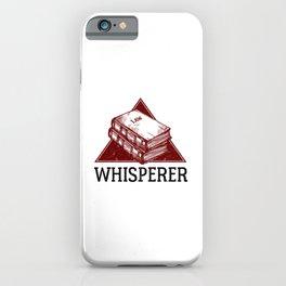 Law Whisperer Lawyer Student Vintage iPhone Case