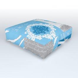 ANIMAL PRINT ZEBRA MULTI BLUE AND WHITE Outdoor Floor Cushion