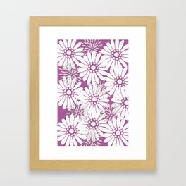 Summer Flowers Purple Framed Art Print