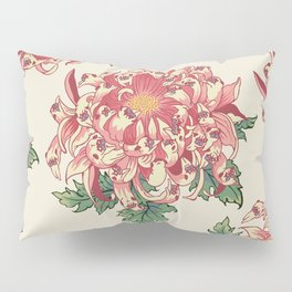 The Chrysanthemum of Pugs Pillow Sham