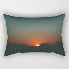 west at sunset Rectangular Pillow