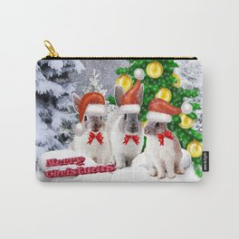 Schneehasen wünschen: frohe Weihnachten Carry-All Pouch