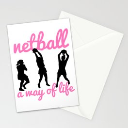 Netball A Way of Life Stationery Cards