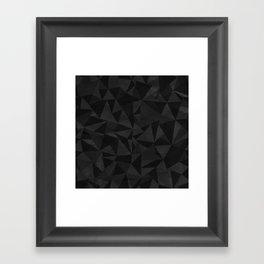 Dirty Dark Geo Framed Art Print