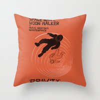 gravity Throw Pillows featuring GRAVITY by Resistance