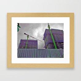 Construction Cocoons Framed Art Print