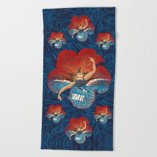 Hibiscus Flower Beach Towel