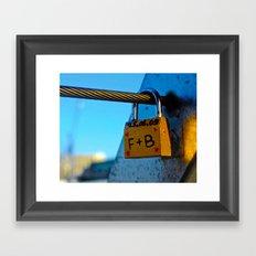 Love Locks 2012 45 Framed Art Print