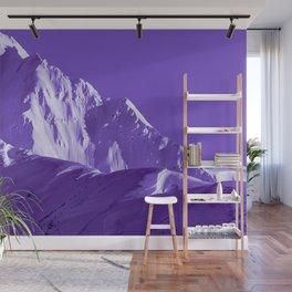 Alaskan Mts. I, Bathed in Purple Wall Mural