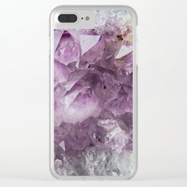 Cluster of Amethyst Clear iPhone Case