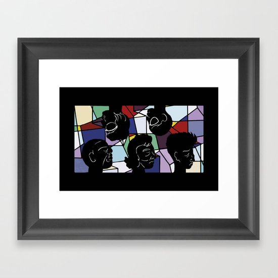 """""""In Our Heads"""" by Virginia McCarthy Framed Art Print"""