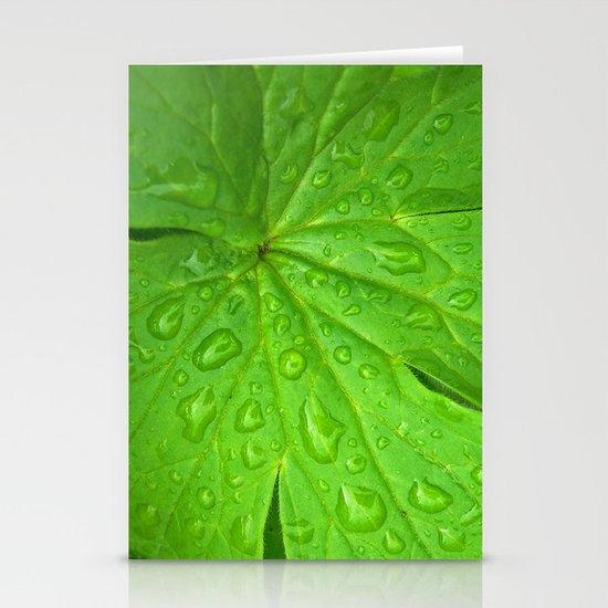 green leaf II Stationery Cards
