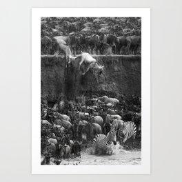 Great Migration - Serengeti Art Print