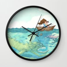 The Lake of Lurking Monsters Wall Clock