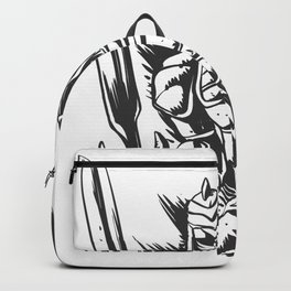 Skeleton knight illustration Backpack