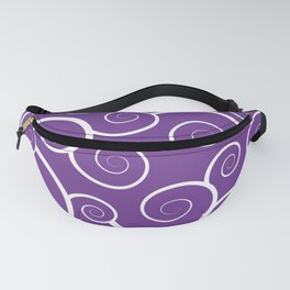 Purple Spiral Waves Fanny Pack