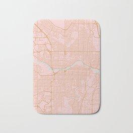 Calgary map, Canada Bath Mat