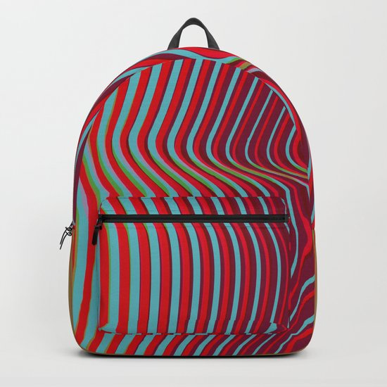 OpArt WaveLines 2 Backpack