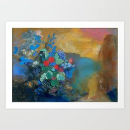 "Odilon Redon ""Ophelia among the Flowers"" Art Print"
