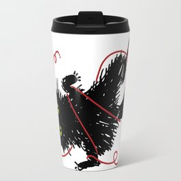 Vevekojotl playing with red clew Travel Mug