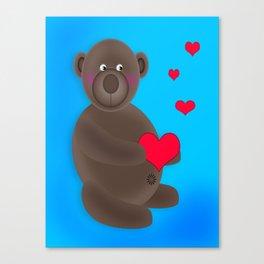 Little Love Bear Canvas Print