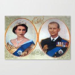 Queen Elizabeth 11 & Prince Philip in 1952 Canvas Print