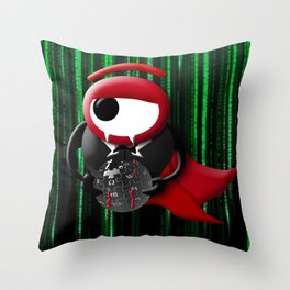 Dracula matrix Throw Pillow