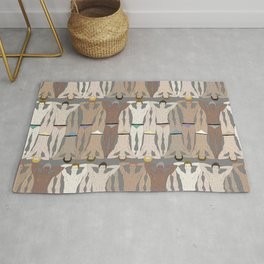 Sunbathers - Retro Male Swimmers Rug