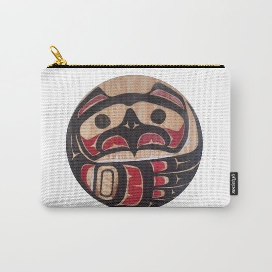 American Native Art Cut In Wood No. 5 Carry-All Pouch