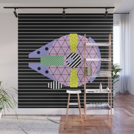 Millennium Falcon Geometric Style - Pastel, abstract design Wall Mural