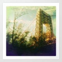 bridge Art Prints featuring Bridge by Claire Beaufort