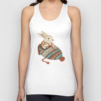 card Tank Tops featuring cozy chipmunk by Laura Graves