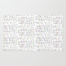 Lettres Arc en Ciel Rug