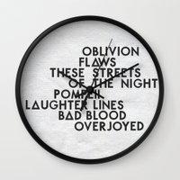 bastille Wall Clocks featuring Bastille #2 by Thafrayer