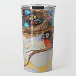 Spring: Mother Robin Travel Mug