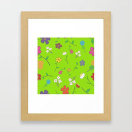 Background - floral seamless with a variety of flowers Framed Art Print