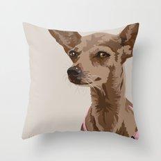 Macy the Chihuahua Dog Throw Pillow
