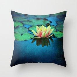 waterlily textures Throw Pillow