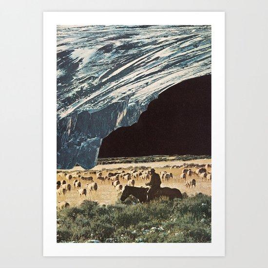 the last herd Art Print