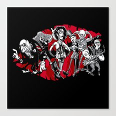 RHPS - gang of six toon party Canvas Print