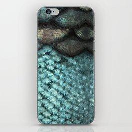 Mermaid Scales Dreamy Sea Blue iPhone Skin