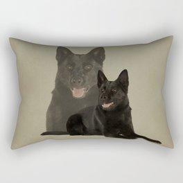 Black German Shepherd Dog - GSD Rectangular Pillow
