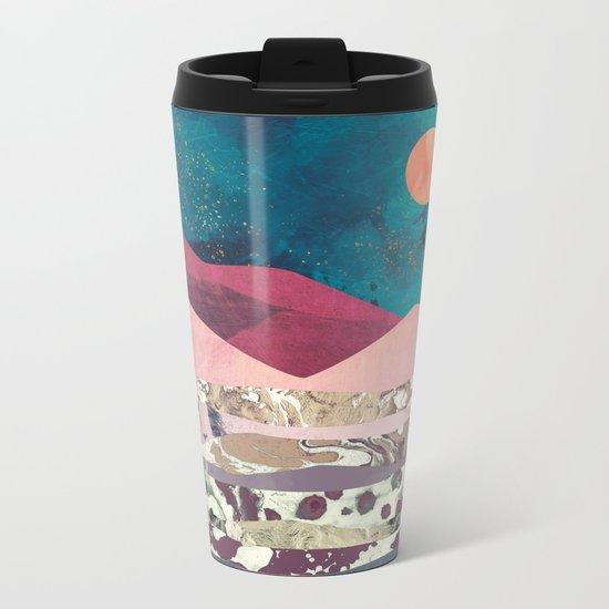 Magenta Mountain Metal Travel Mug