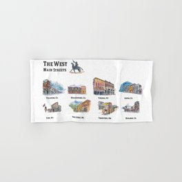 USA Wild West Towns Main Streets - Telluride, Breckenridge, Aspen & Co. Hand & Bath Towel