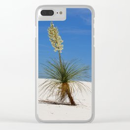 Living In The White Sand Dunes Clear iPhone Case