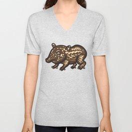 Baby Malayan tapir Unisex V-Neck