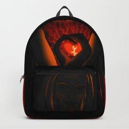 Beautiful Woman With Glowing Healing Heart Backpack