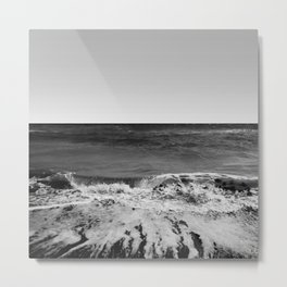 BEACH DAYS XVI BW Metal Print