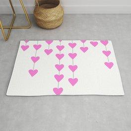 Pink Heart Strings Rug
