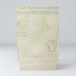 Ancient Roman Graffiti (Yellow Ochre) Mini Art Print